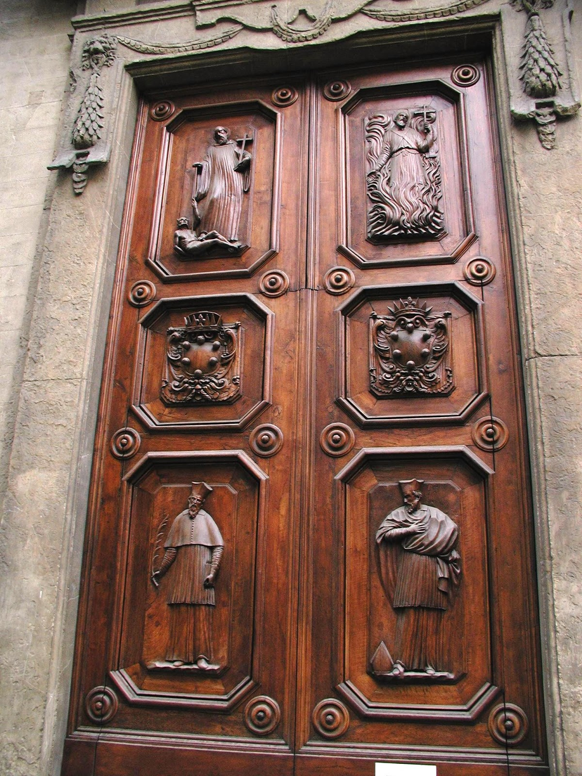 The old saw carved wooden doors of europe for European entry doors