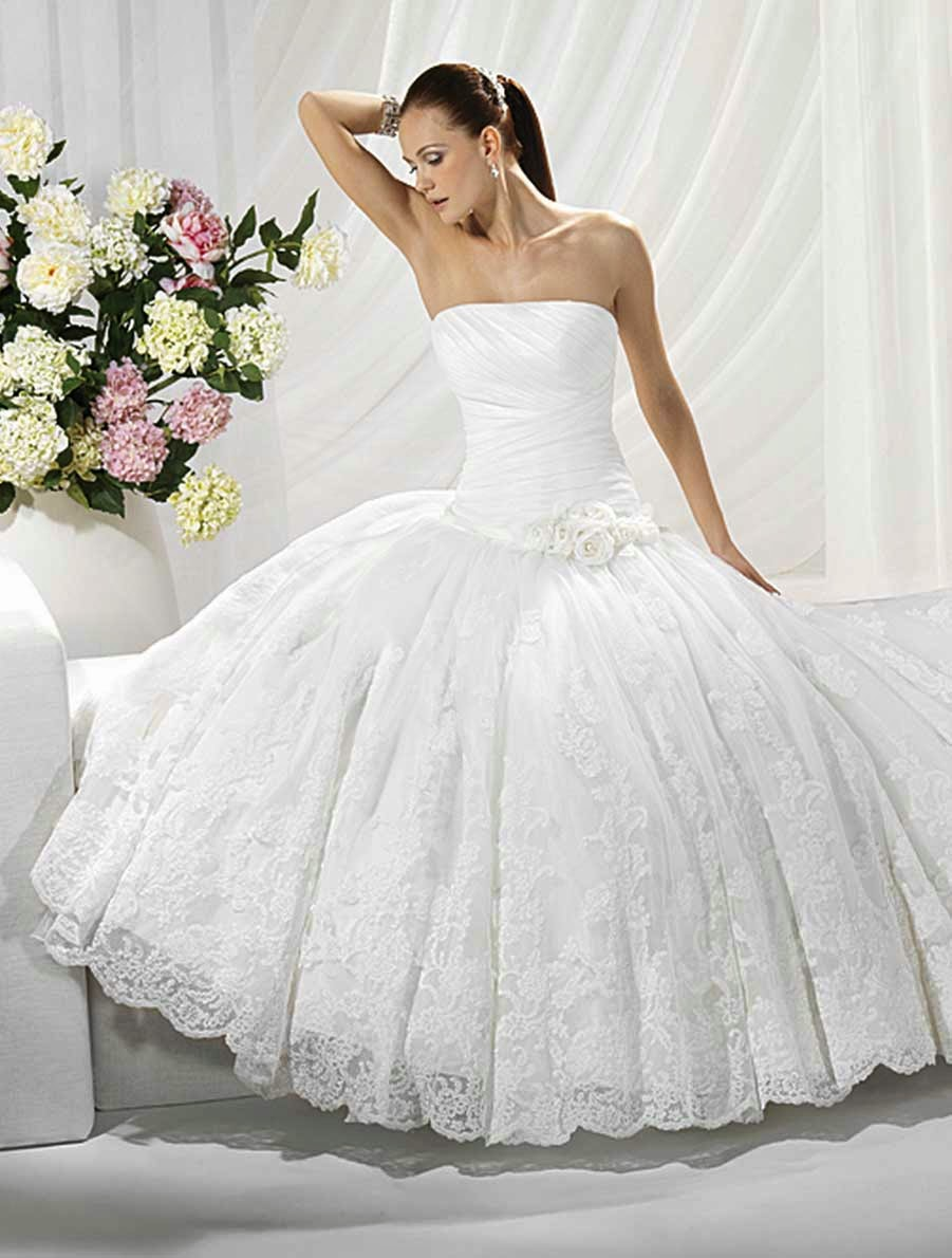 Princess Wedding Dresses 2013 Design - Ideas Photos HD