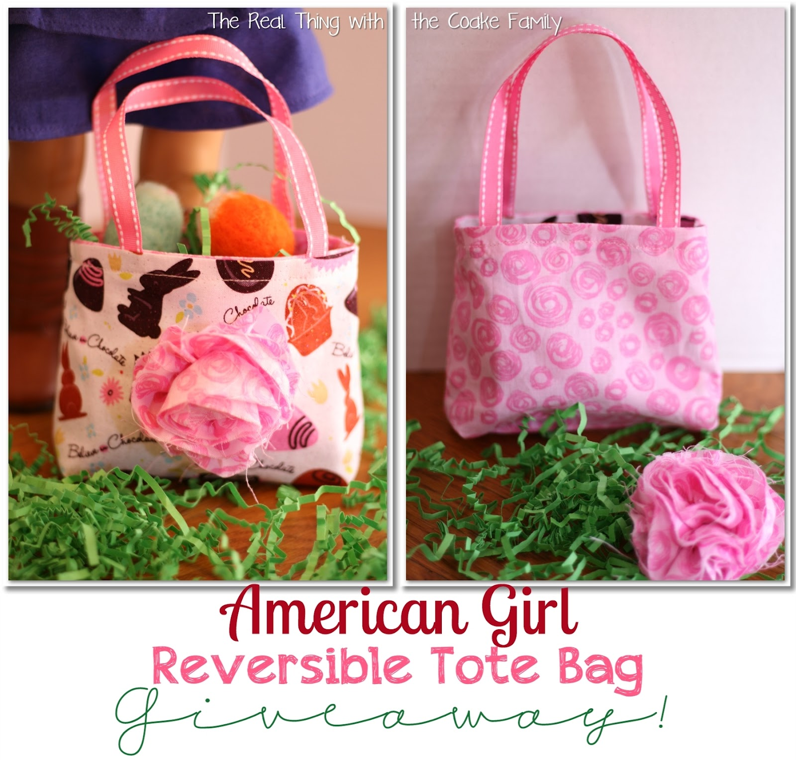 Free Doll Patterns For An American Girl Reversible Tote With Removable Flower Too Cute