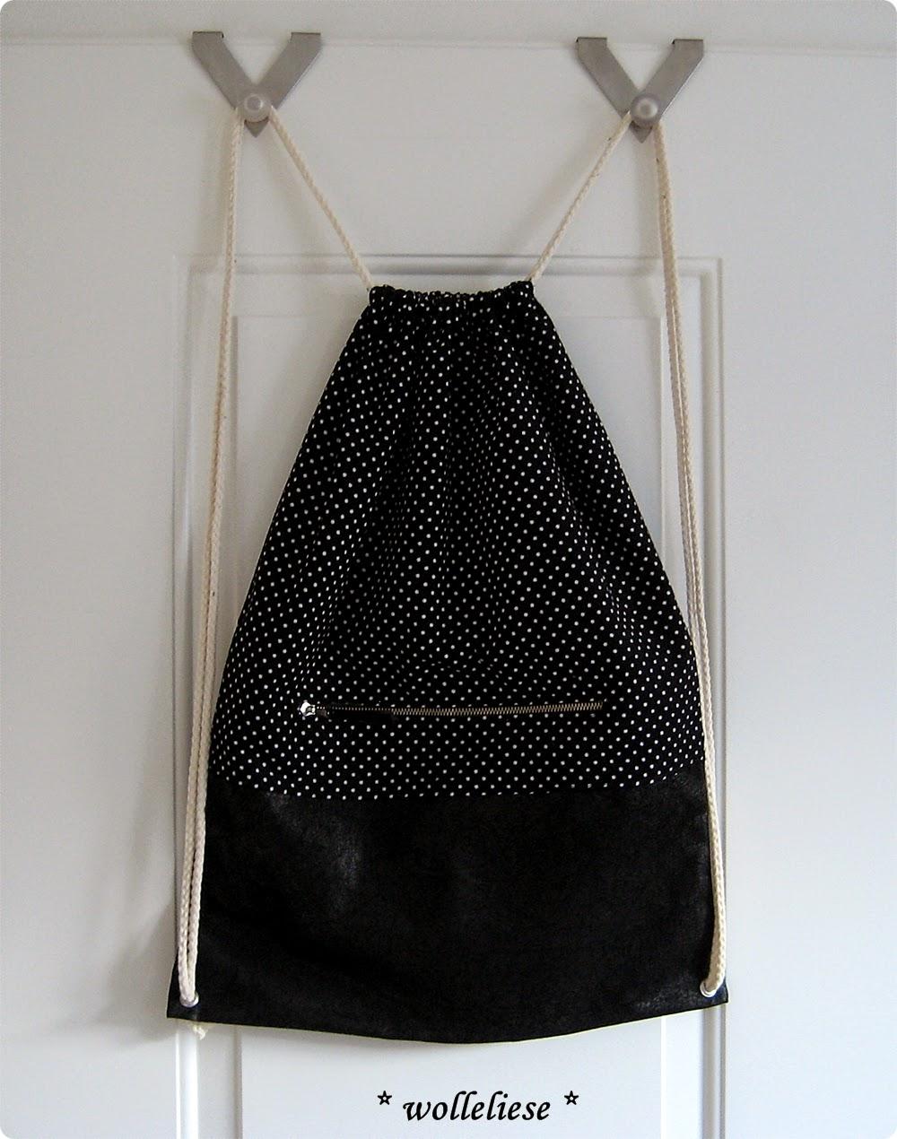 wolleliese beutel rucksack rucksack beutel. Black Bedroom Furniture Sets. Home Design Ideas