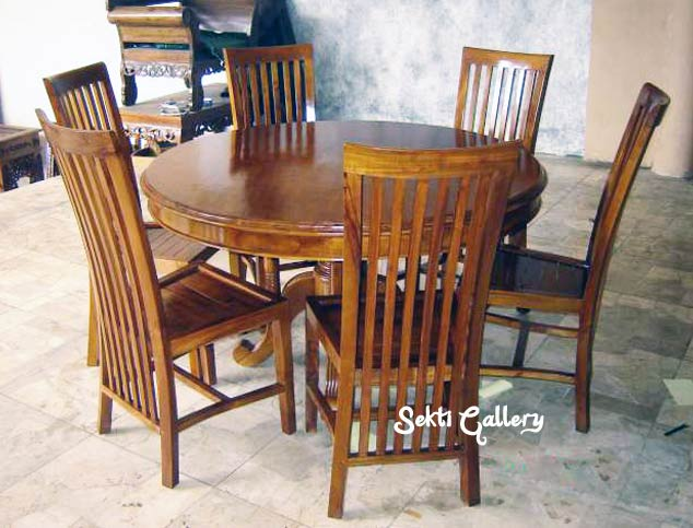 Indonesian Teak Furniture SOLID TEAK FURNITURE - Indonesian teak dining table