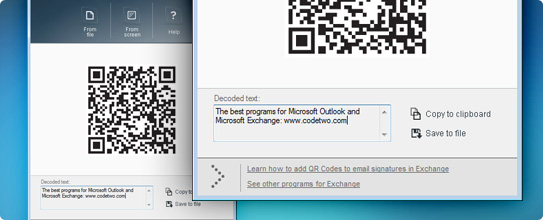 Scan QR Codes directly on Computer
