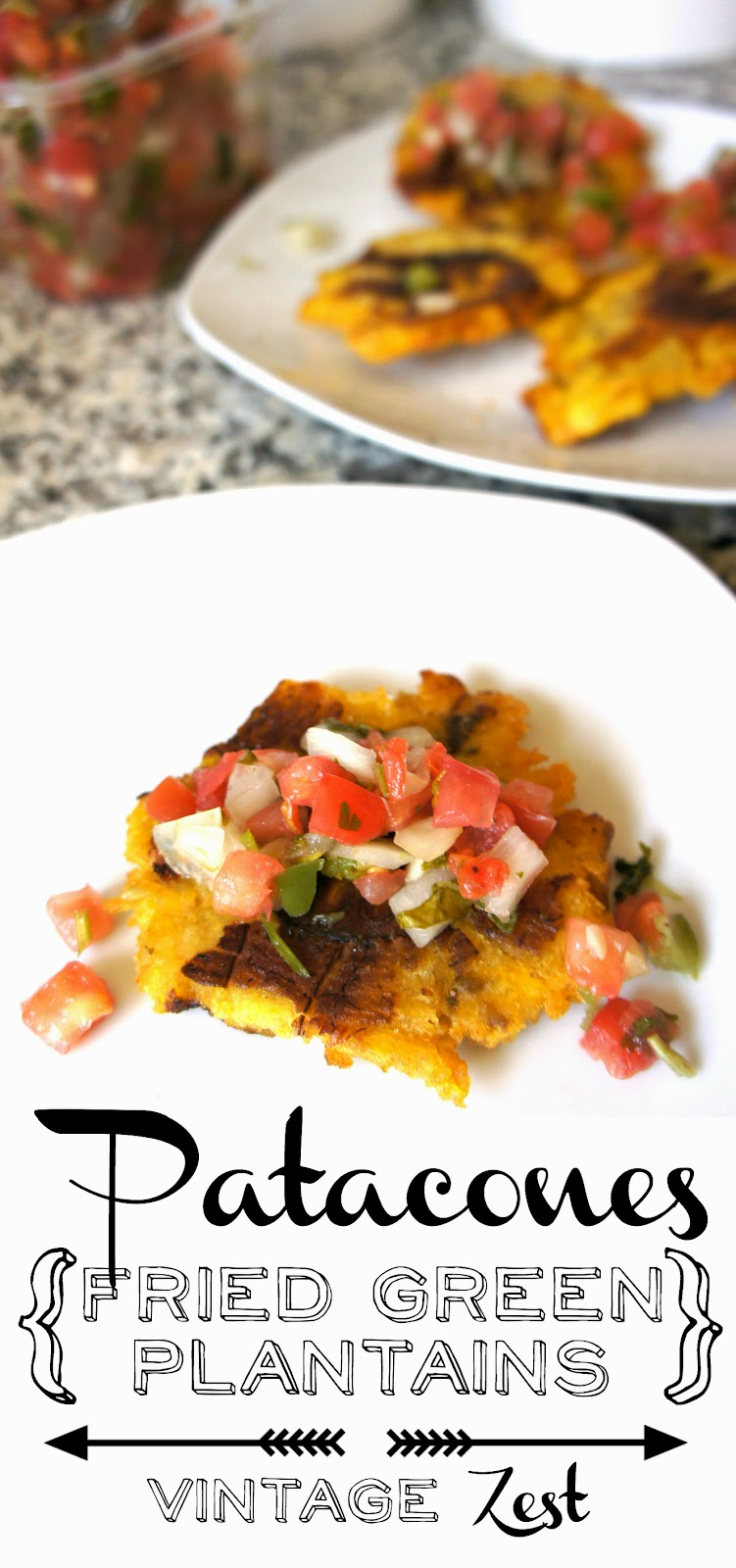 Patacones (Fried Green Plantains) on Diane's Vintage Zest! #recipe # ...