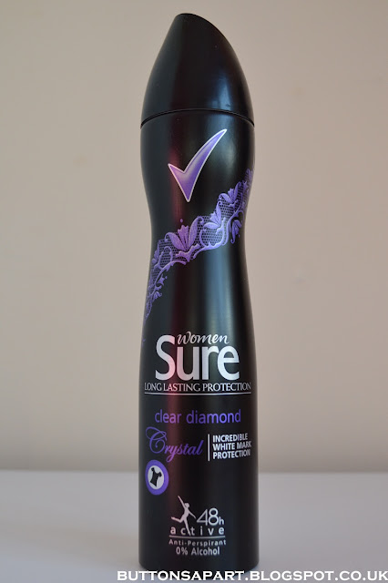 a picture of sure women crystal clear diamond 48h active anti-perspirant deodorant