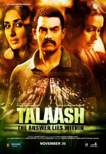 Aamir Khan, Kareena Kapoor, Rani Mukerji in Talaash, Directed by Reema Kagti