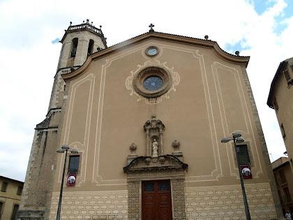 Façana de l'església de Santa Coloma de Centelles