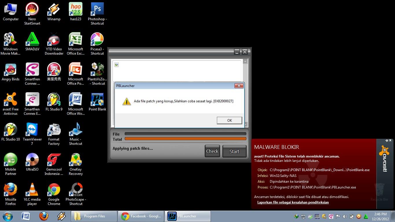 Cara mengatasi masalah file patch yang korup silahkan coba sesaat lagi 0X82