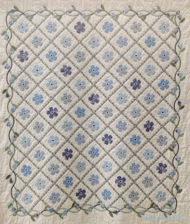 'Forget-Me-Not' Quilt by Judith Scott