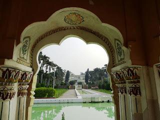 Inside Jal Mahal, Pinzore Garden
