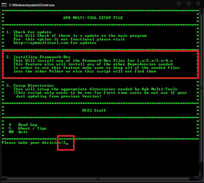 apktool windows 7 32 bit