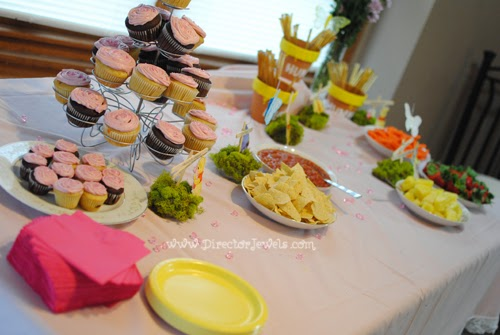 Tea Party Table And Food Display Disney Winnie The Pooh Birthday Decorations