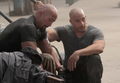 dwayne johnson and vin diesel making of fight in movie fast fiveVin Diesel And Dwayne Johnson Height
