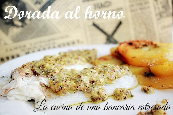 Cocinar Dorada Al Horno   Dorada Al Horno Con Patatas Y Salsa De Mostaza Es Absolutamente