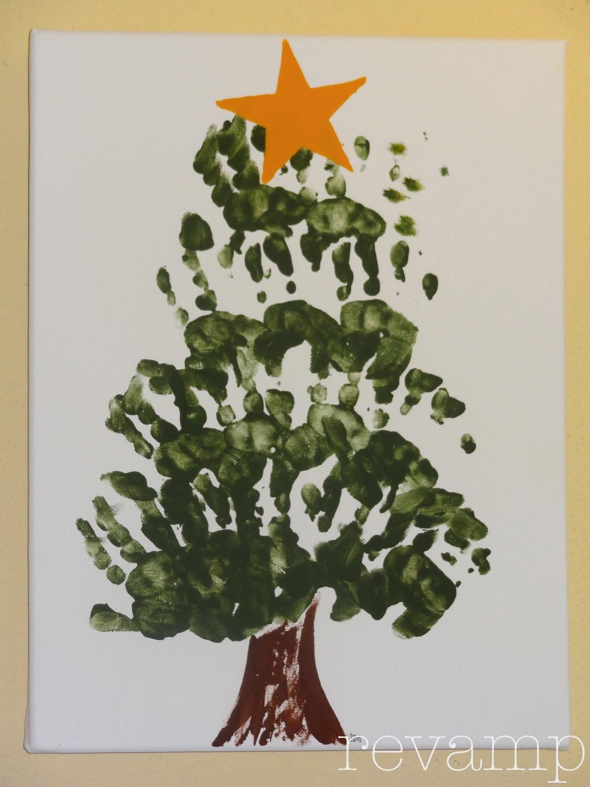 christmas tree handprint - photo #3