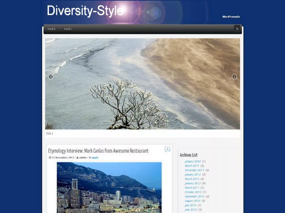 Diversity-Style Wordpress theme