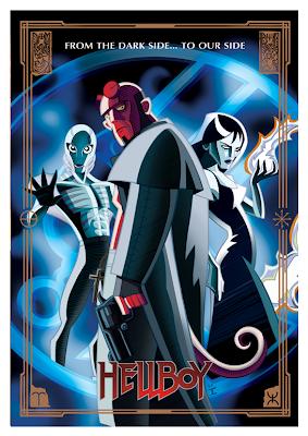 hellboy carton poster art  - film poster font