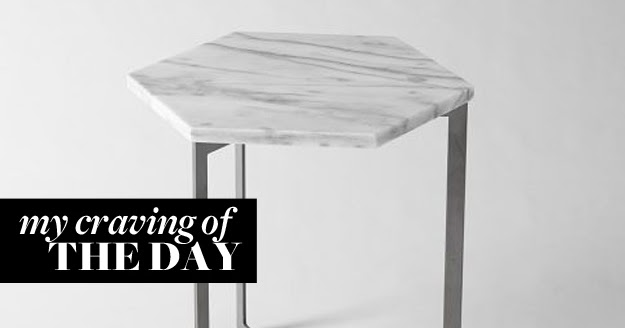 Createcph Marble Side Table - Hex coffee table