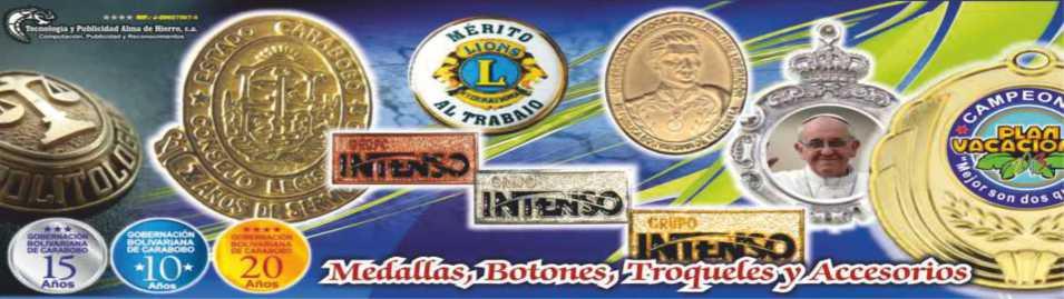 Fabrica de Placas Reconocimientos Diplomas Medallas Botones Publicidad Textiles y Computacion