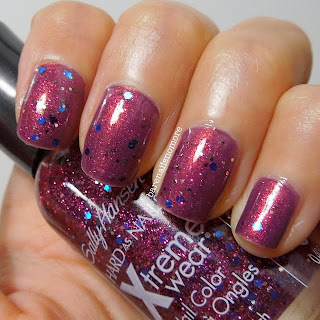 Sally Hansen Confetti Punch over Couleur Inc Baked Alaska 61