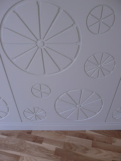 bespoke timber paneling with wheel design by cb3 design architects SJS Property Services