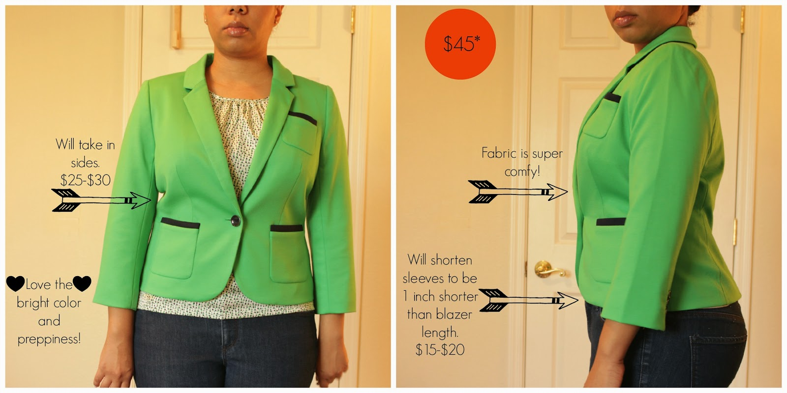 the limited petite green blazer