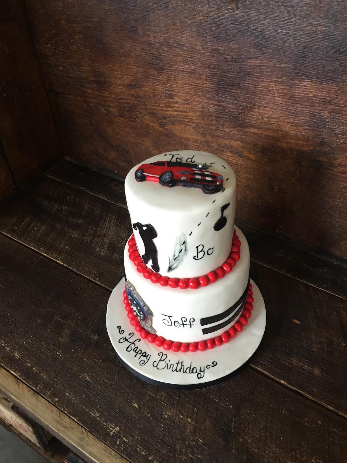 Sweet Ts Cake Design 3 Birthdays One Cake Mustang Shelby