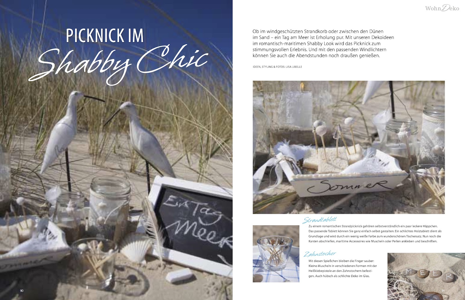 Summertime at the beach featured in the landidee wohnen - Zeitschrift deko und bastelideen ...