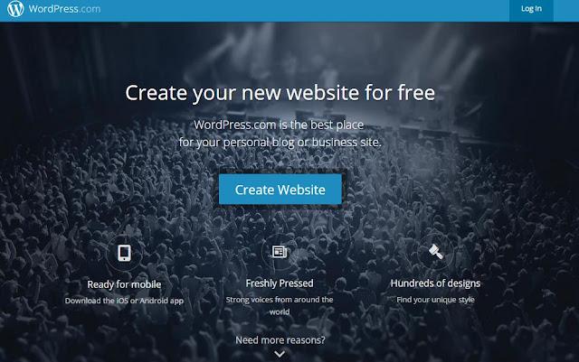 langkah membuat blog di wordpress com