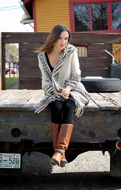 free people shawl, dv boots, dolce vita boots, new years eve outfit, winter shawl