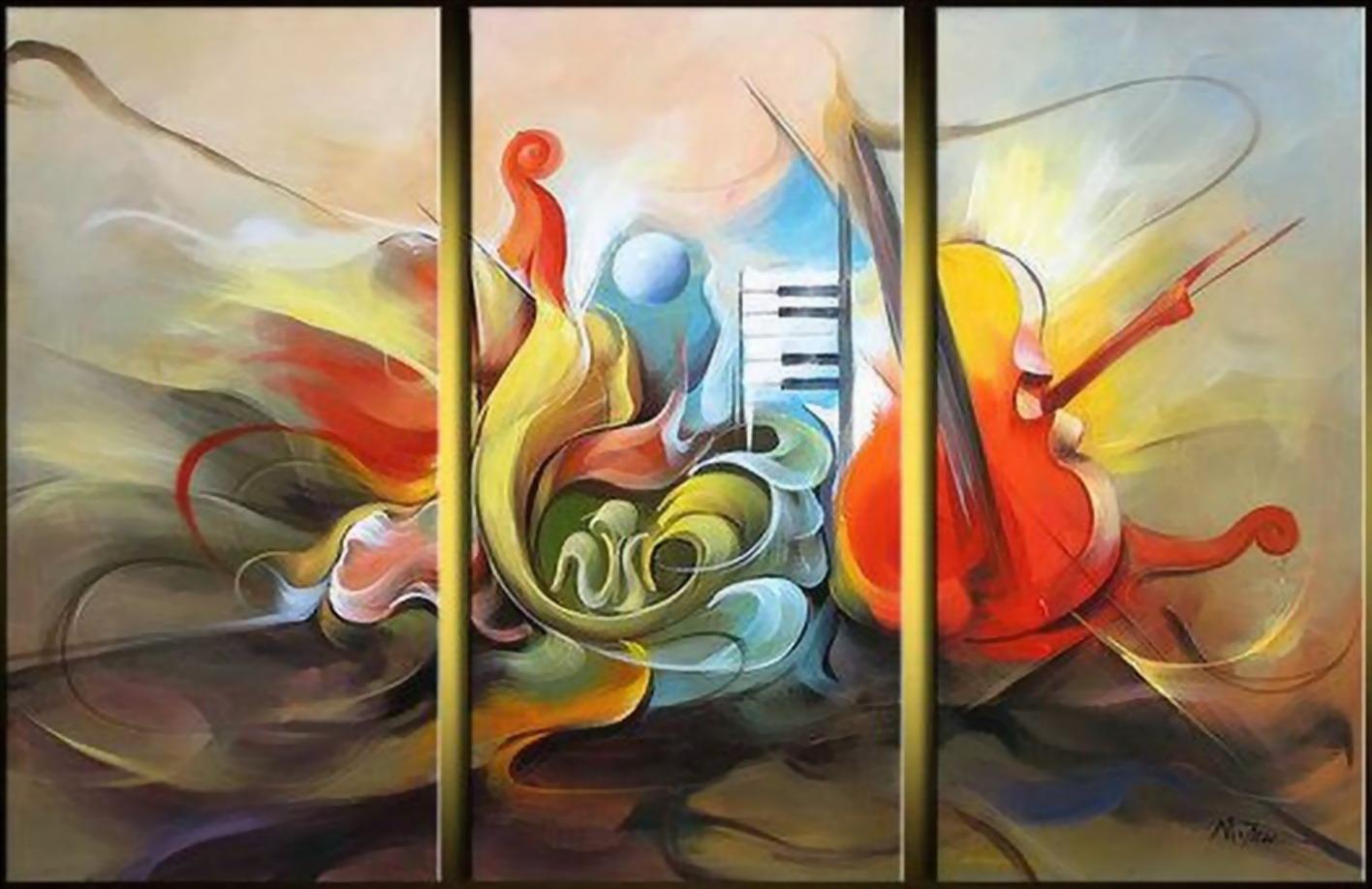 Cuadros modernos pinturas y dibujos cuadros con for Cuadros de oleo modernos