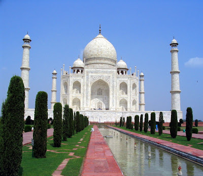 Taj Mahal, one of the most popular wonders of the world located in India