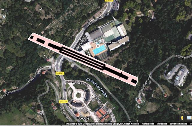 Propuesta de puente sobre Gorostiza previsto en el estudio de la línea Variante Sur Ferroviaria