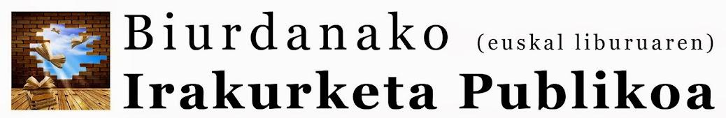 Biurdana institutuko Euskal Liburuaren Irakurketa Publikoa