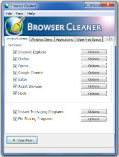 Hapus History Browser dengan Browser Cleaner