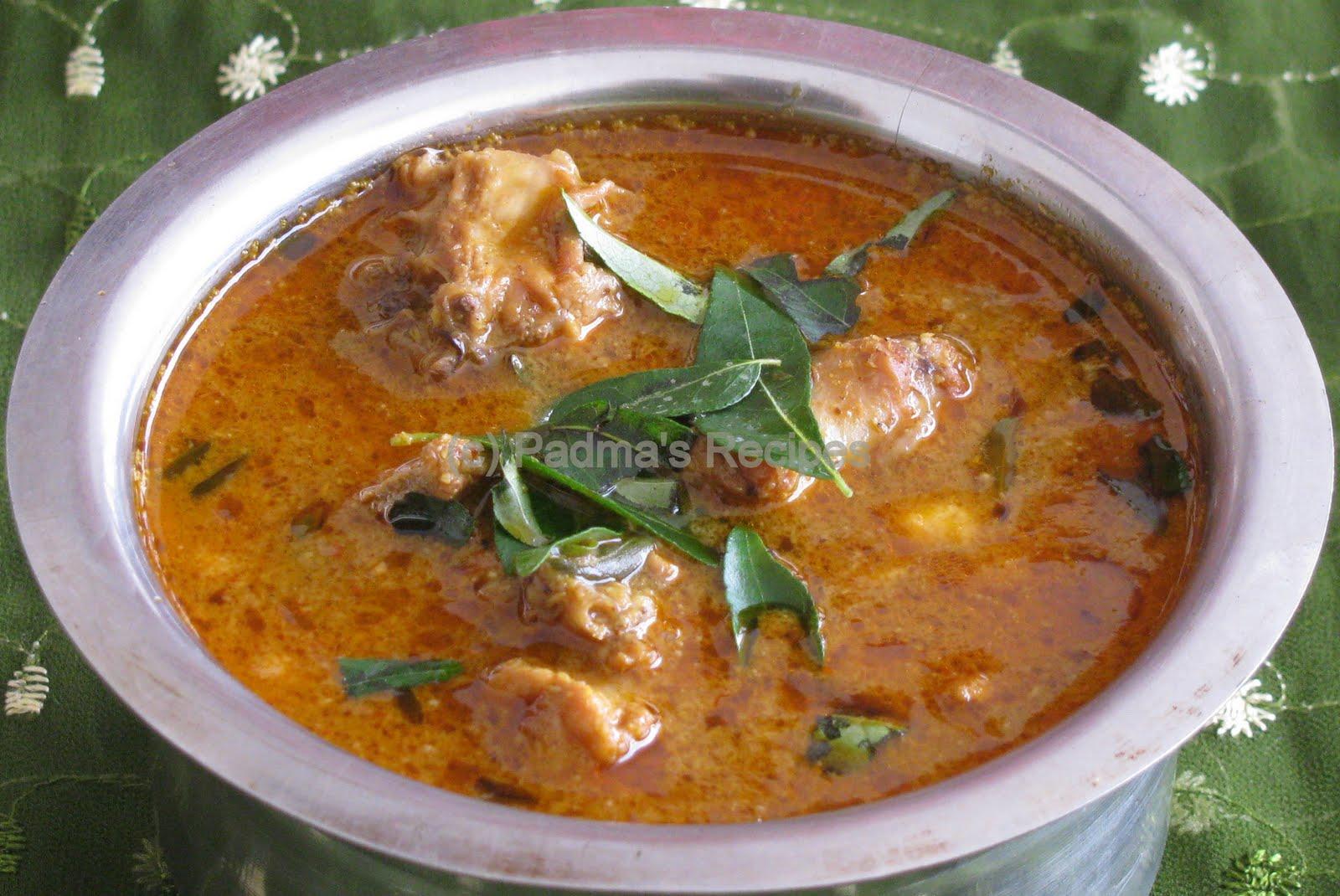 Padmas recipes spicy chicken gravy chicken kulambu 24 spicy chicken gravy chicken kulambu ccuart Images