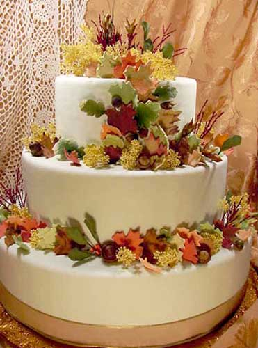 Fall Wedding Cake Ideas Pictures