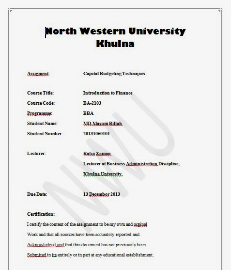 griffith university assignment cover sheet