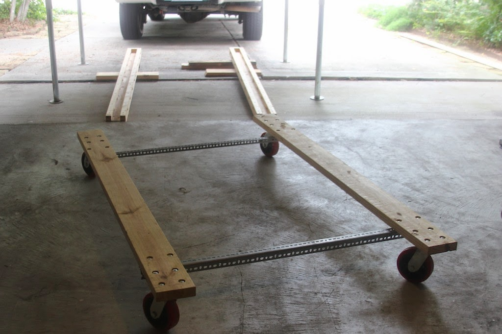 Homemade Dolly And Tracks For Our Raven Four Wheel Camper