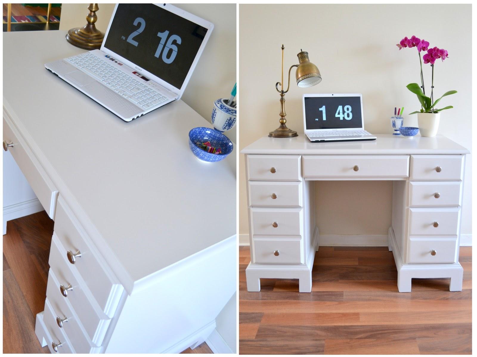 Winter White Desk Makeover