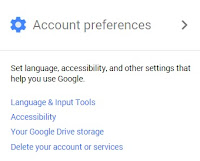 Google account preferences