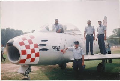 Ch. Muhammad Mansha Gujjar sitting in the Cock-pit of Jet