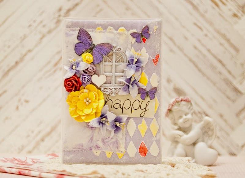 Ручная работа Кокоревой Анны, ручная работа, открытки ручной работы, скрап открытки, скрап, скрапбукинг, открытки в стиле скрапбукинг.