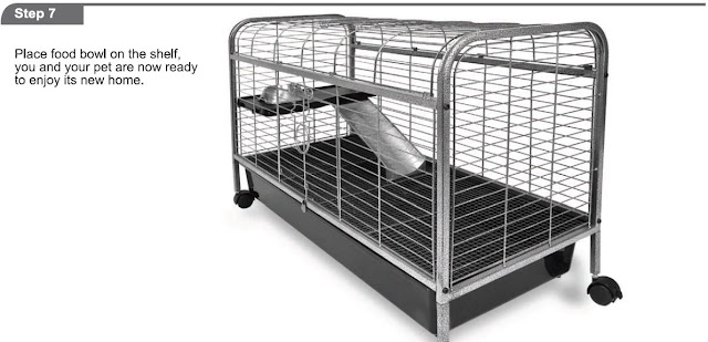 Critter cages blog living room series rabbit home by ware mfg assembly instructions for Critter ware living room series