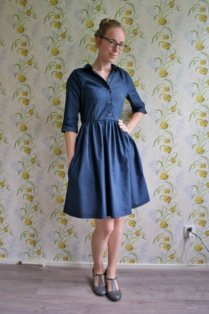Camí dress, sewing pattern, pattern tester, shirt dress, pauline alice