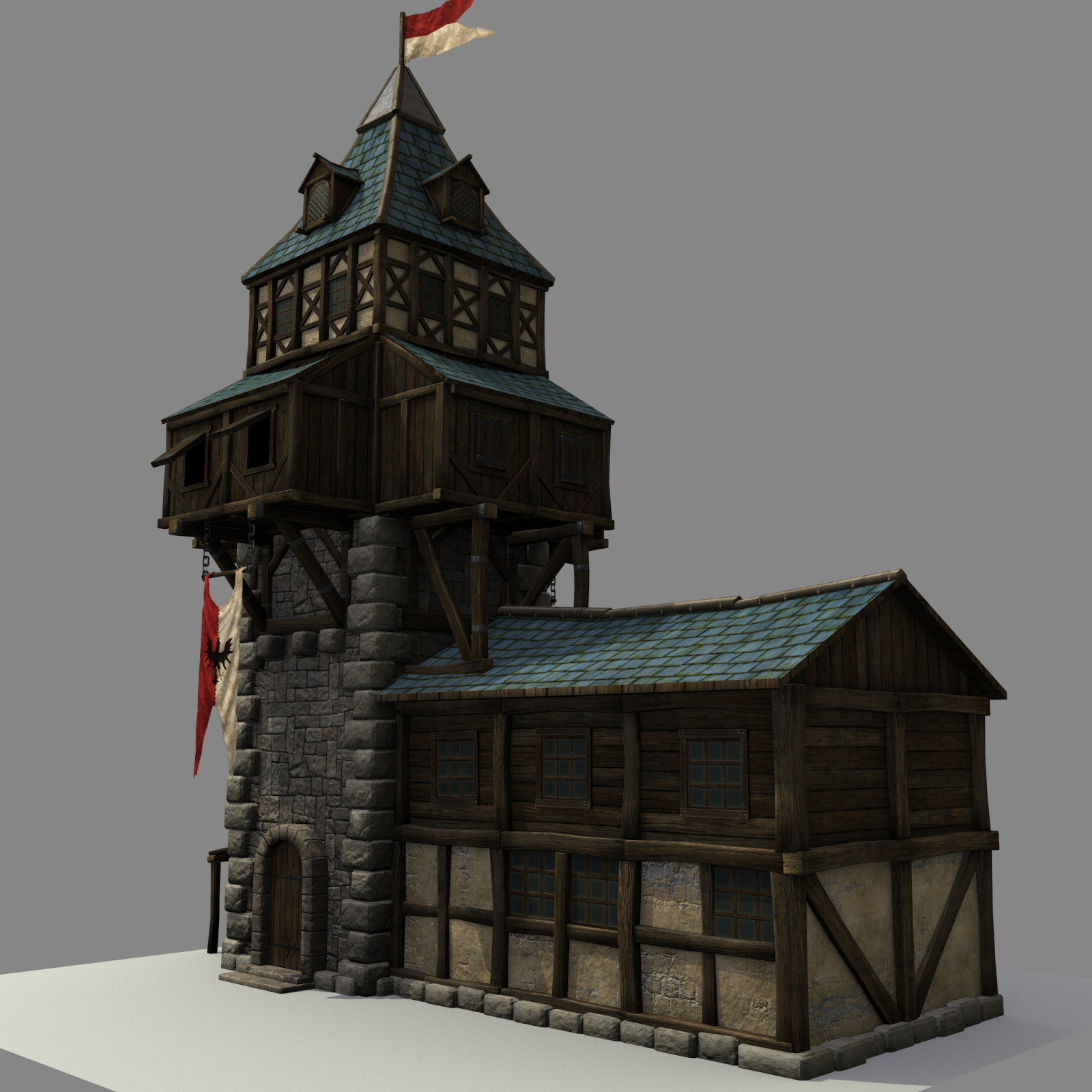 Wip Medieval Watchtower Polycount
