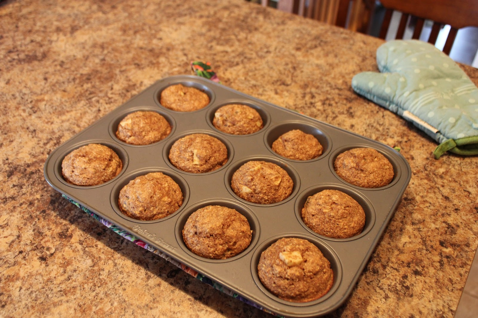 Granny Smith Apple Bran Muffins