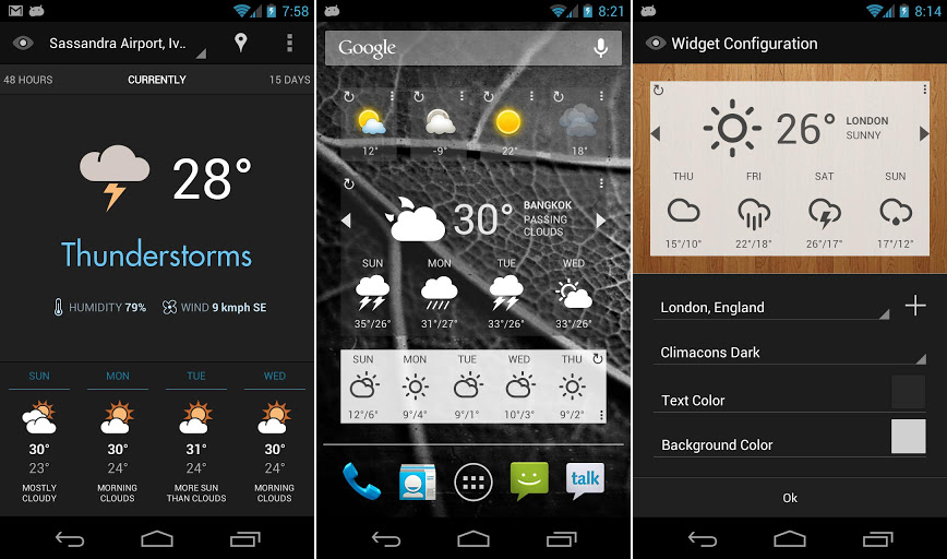 Eye In Sky Weather for Android Screenshots