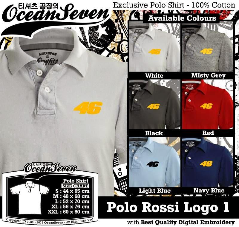 Kaos Polo Rossi Logo 1