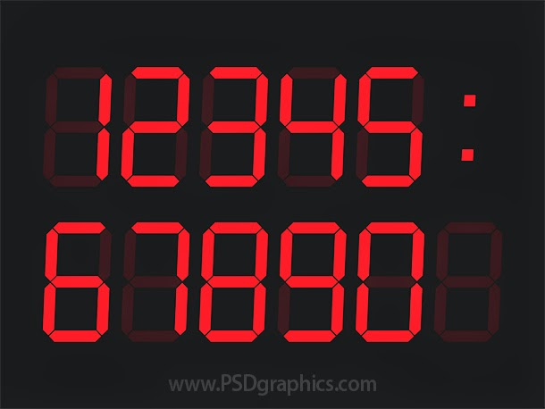Digital Clock Template PSD