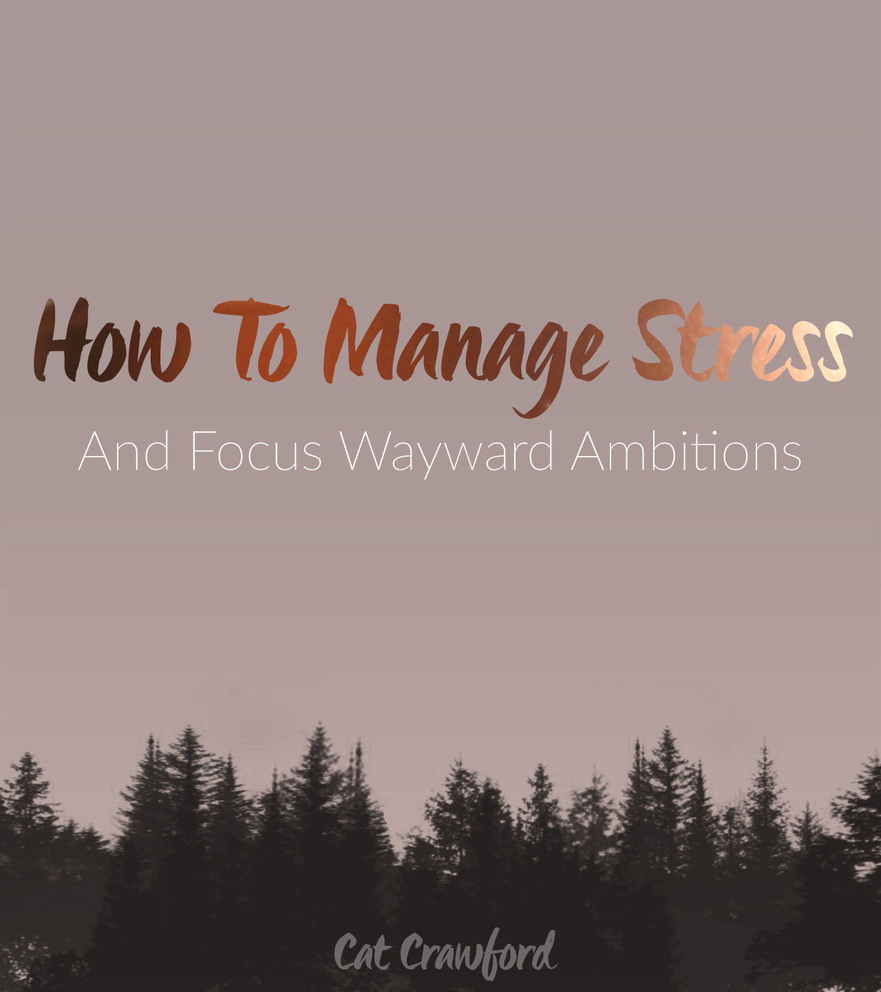 How to manage stress and focus your wayward ambitions